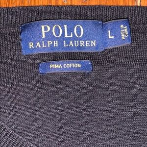 Ralph Lauren Polo Blue Label V-neck black sweater